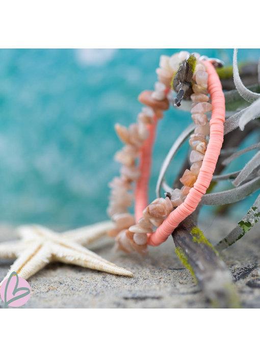 Biba Set van 2 armbanden in pink nude Biba