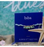 Biba Turquoise blauw trekkoord armband van Biba