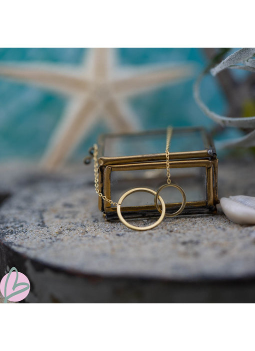 Go Dutch Label Armband met ronde ringen in elkaar goud