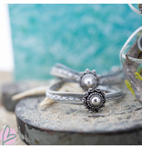 Zeeuws zeeuwse knop leren armband grijs wit