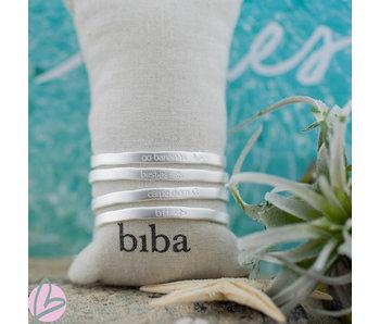Biba armband matzilver 'BFF/ Best friends//Go Bananas