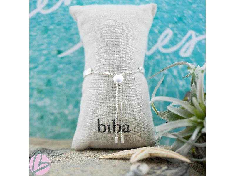 Biba armband matzilver ''BFF/ Best friends/Carpe Diem/Go Bananas