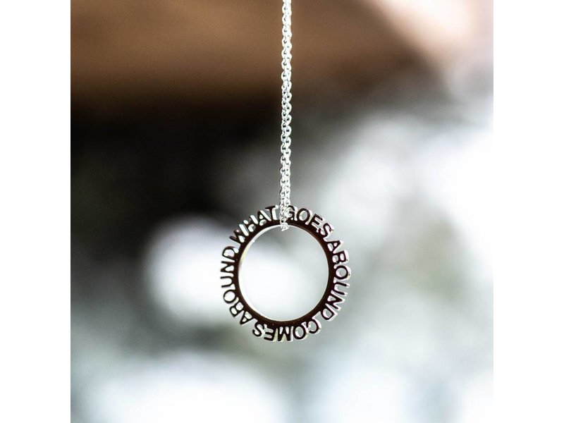 Beadle What goes around comes around ketting zilver