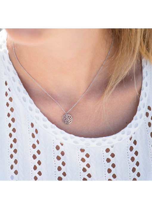 Beadle Flower of life ketting zilver