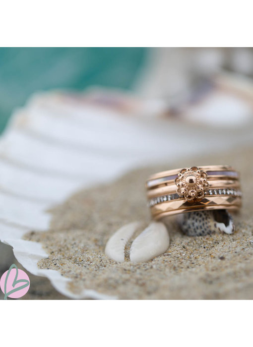 IXXXI Complete rosegoud ring met zeeuwse knop IXXXI