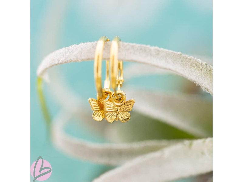 KARMA karma goud oorringen vlinder