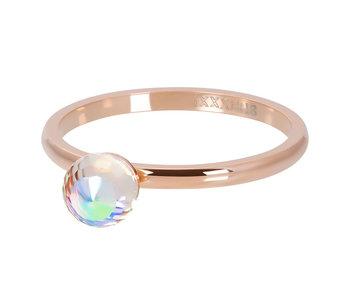 IXXXI Vulring crystal ab facet bal rosegoud