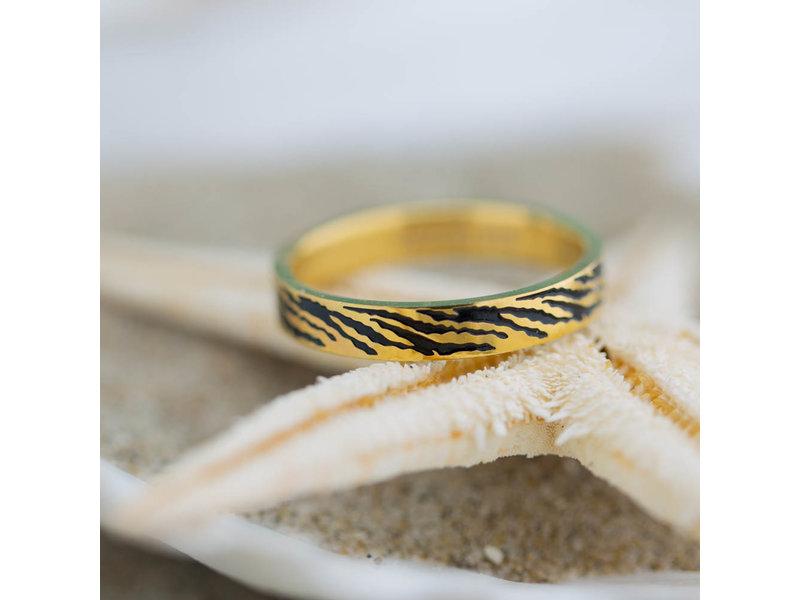 IXXXI vulring 4mm zebra goud