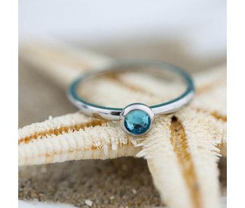 IXXXI aanschuif ring zilver blue water 2mm