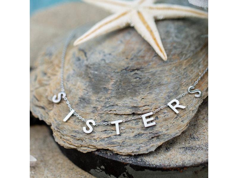 Beadle Zilver stalen ketting met sisters
