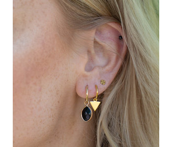 KARMA Hoops Symbols Triangle Gold