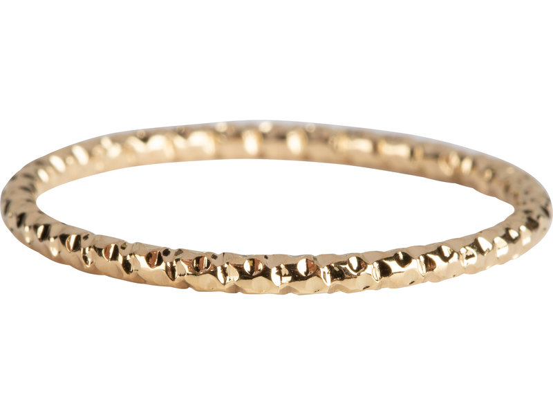 Charmins Ring staal goud shiny gold