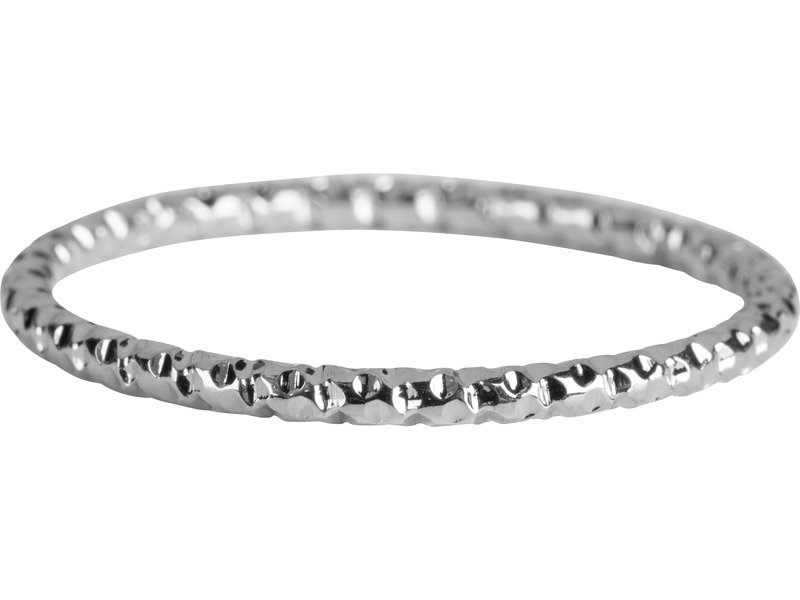 Charmins Ring staal zilver shiny