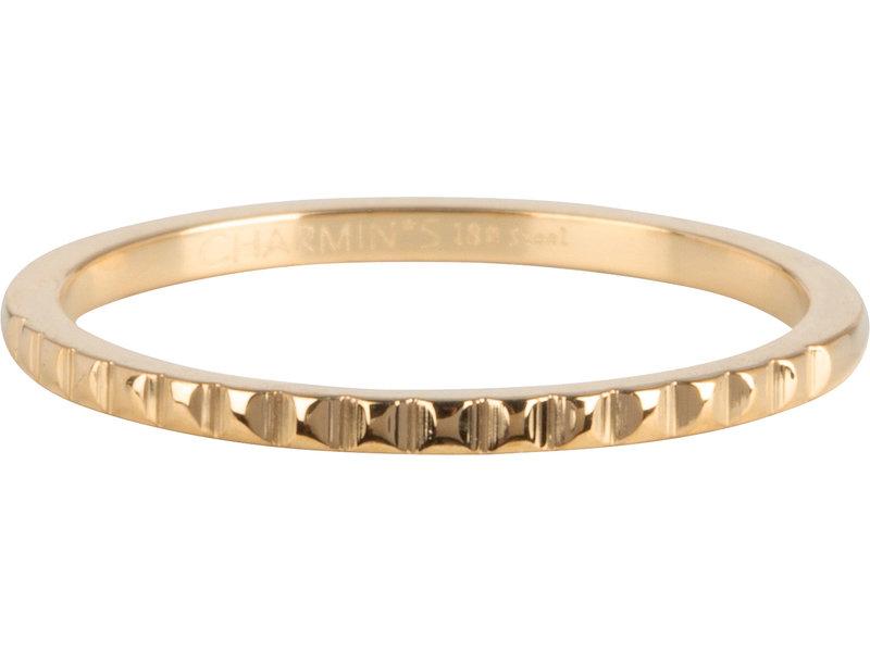 Charmins Ring staal goud nefertiti