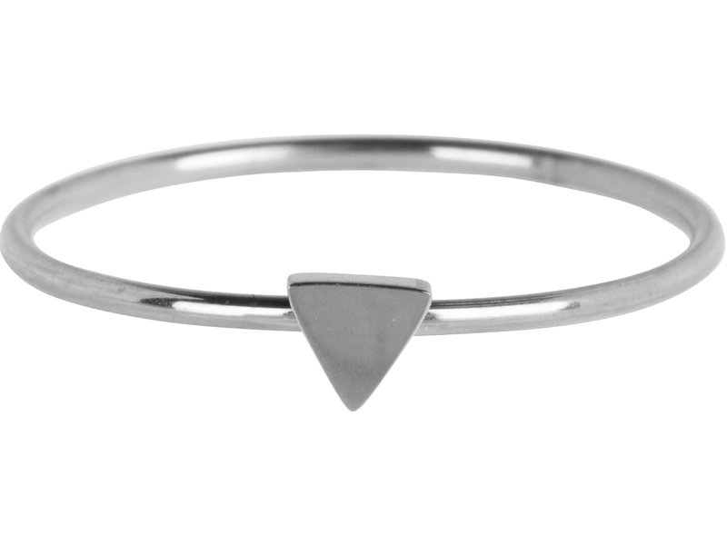Charmins Ring triangle zilver