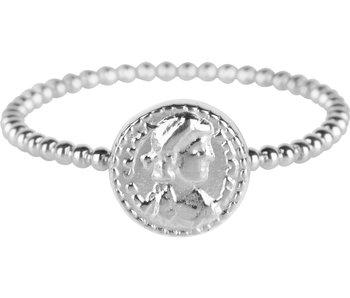 Charmins Ring  romeinse munt zilver