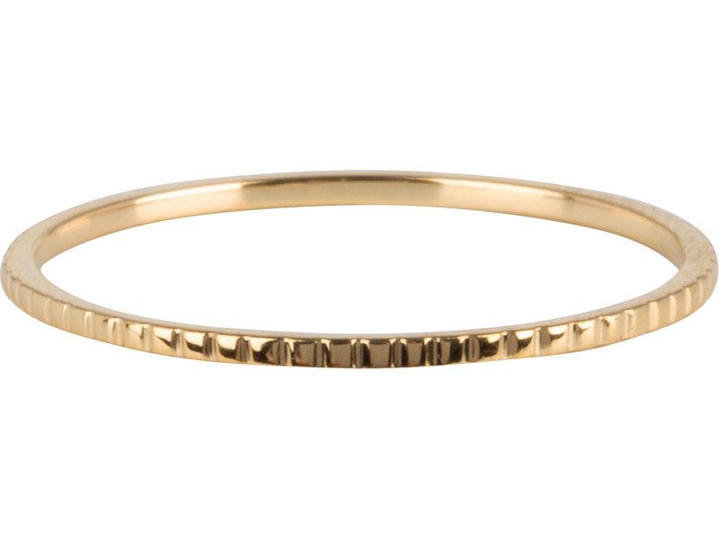 Charmins Ring mini bricks goud