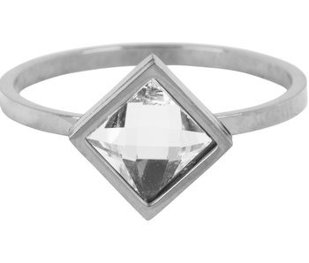 Charmins Ring modern square zilver