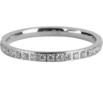 Charmins Ring  Moiety Crystals  zilver