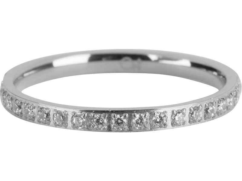 Charmins Stapelring  Moiety Crystals Charmins  zilver