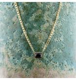 ZAG  Bijoux Goud schakelketting met zwarte steen