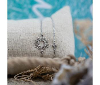 Go Dutch Label Zilver armband met zonnestralen of kruis