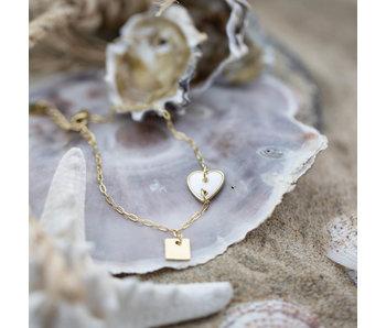 ZAG  Bijoux Goud armband met hart van schelp