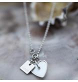 ZAG  Bijoux Zilver ketting met hart van schelp