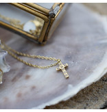 Go Dutch Label Goud ketting met crystal kruis