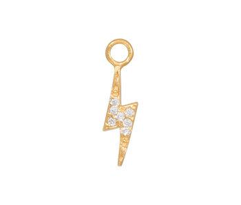 Eline Rosina gouden bliksem hanger met zirconia