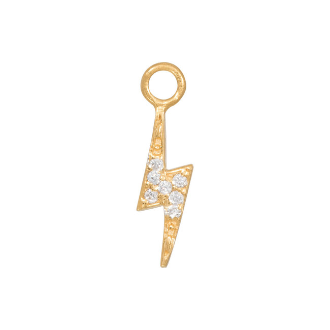 Eline Rosina Mix en match gouden bliksem hanger met zirconia