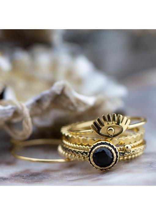 Charmins Ring shiny iconic goud