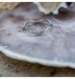 Charmins Ring staal zilver wave