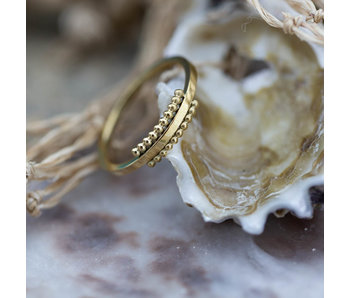 Charmins Ring staal goud One of a kind