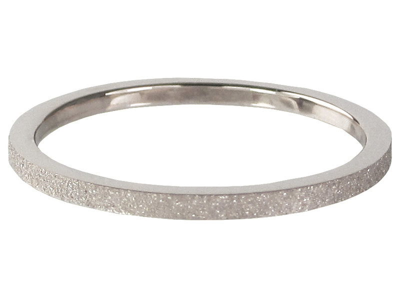 Charmins Ring staal zilver sand