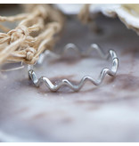 Charmins Ring go with the flow zilver charmins