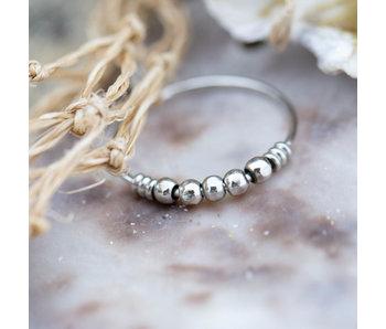Charmins Stalen zilver ring bolletjes