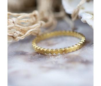 Charmins Stalen gouden ring flatcircle
