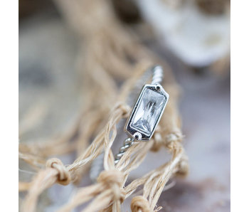 Charmins Zilver twisted staal ring
