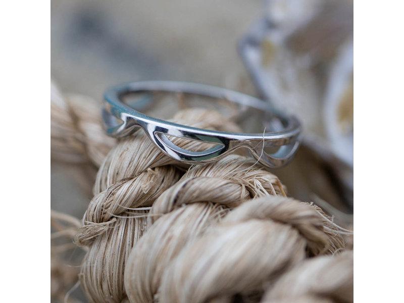 Charmins Ring zilver kroontje