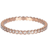 IXXXI Small circle Stone ring rosegoud