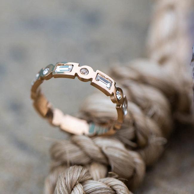 IXXXI Excellent ring rosegoud ixxxi