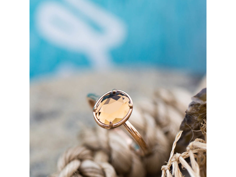 IXXXI Glam Oval champagne facet steen ring ixxxi