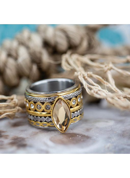 IXXXI Complete ixxxi ring zilver en goud
