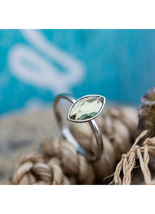 IXXXI Royal Diamond  Crystal Zilver ring