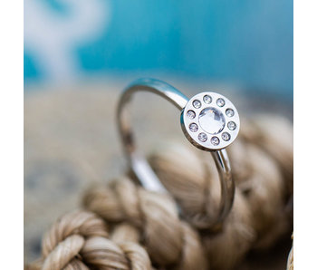IXXXI Diamond circle zilver