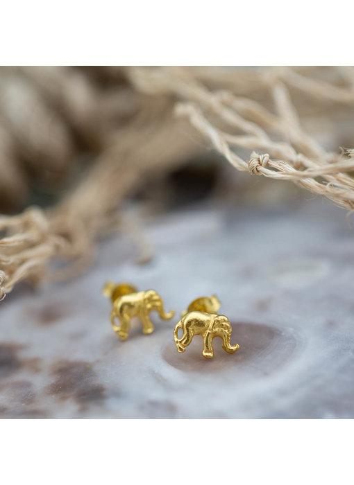 KARMA Symbols oorstekers goud olifant