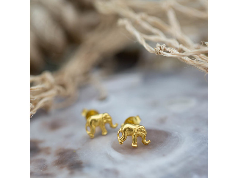 KARMA Symbols oorstekers gouden olifantjes