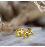 KARMA Symbols oorstekers gouden oogjes eye
