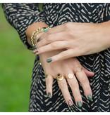 Beadle gouden ring